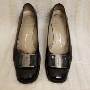 Salvatore Ferragamo Black Leather Shoes